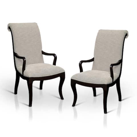 Silver Orchid Bernon Contemporary Beige Arm Chair (Set of 2)