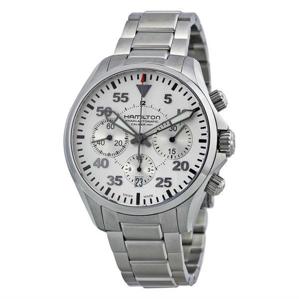 Hamilton Silvertone Stainless Steel Watch. Opens flyout.