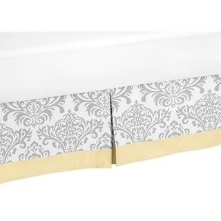 Sweet Jojo Designs Yellow and Grey Avery Queen-size Bedskirt