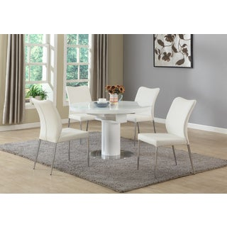 Christopher Knight Home North White Metal and Wood 5-piece Dining Set