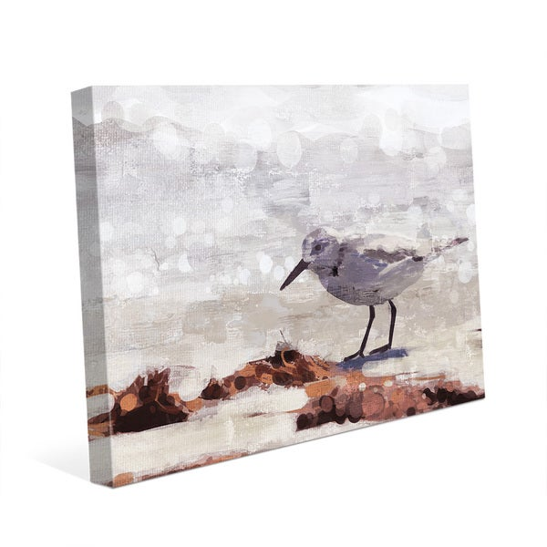 Shop \'Sandpiper\' Canvas Painting Wall Art - On Sale - Free Shipping ...