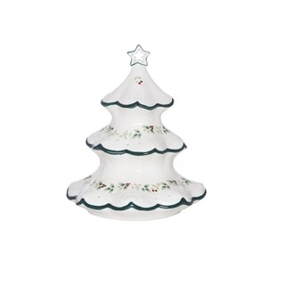 Pfaltzgraff Winterberry White, Red, and Green Stoneware LED-light Tree