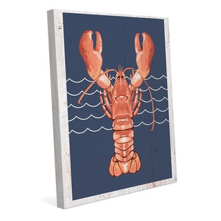 'Lobster Life Coral' Canvas Wall Art