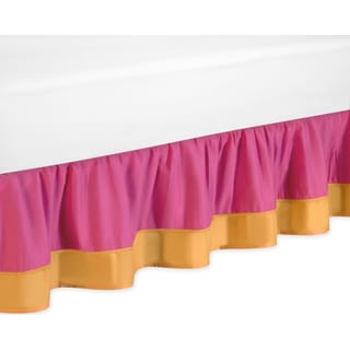 Sweet Jojo Designs Pink and Orange Butterfly Queen-size Bedskirt