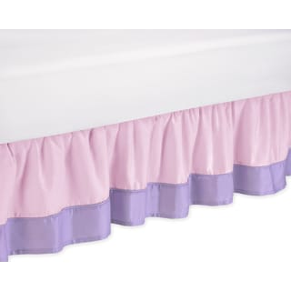 Sweet Jojo Designs Pink and Purple Butterfly Queen-size Bedskirt