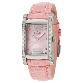 Charmex Women's Morcote Pink Leather and Stainless Steel Watch