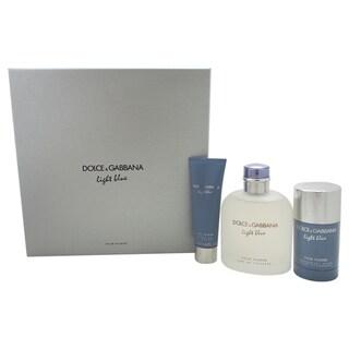 Dolce & Gabbana Light Blue Men's 3-piece Gift Set