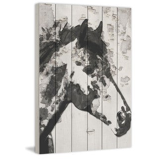 Marmont Hill - Handmade Star Bright Horse Painting Print on White Wood