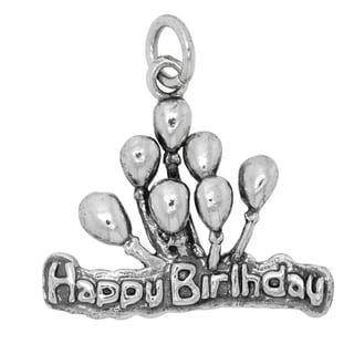 BSE Sterling Silver Happy Birthday Balloons Charm