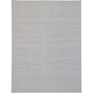 eCarpetGallery Nevada Blue/Grey Wool/Cotton Hand-woven Rug (9'1 x 12'1)