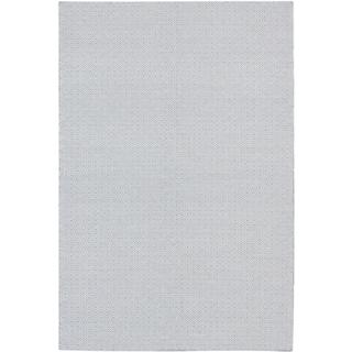 eCarpetGallery Nevada Blue/Ivory Hand-woven Wool Rug (6' x 9')