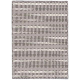 eCarpetGallery Nevada Blue/Grey Wool Hand-woven Rug (2'2 x 3')