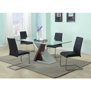 Christopher Knight Home Sadie Black Wood, Glass and Metal 5-piece Dining Set