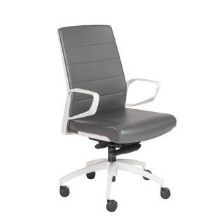 Euro Style Gotan-PC LB Grey and White Office Chair