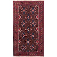 eCarpetGallery Hand-knotted Royal Baluch Red Wool Rug (3'8 x 6'3)