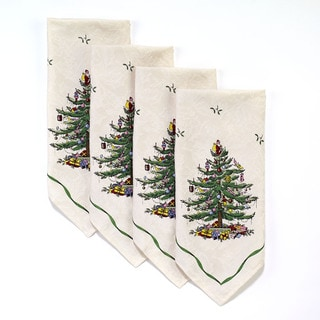 Spode 'Tree' Multicolor Cotton and Polyester 20-inch Napkins (Set of 4 Pieces)
