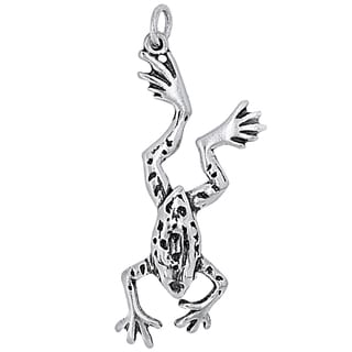 BSE Sterling Silver Dotted Frog Charm