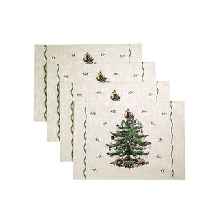 Avanti Spode Multicolor Cotton/Polyester 13 x 19-inch Christmas Tree Placemats (Pack of 4)