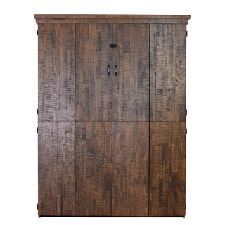 Reclaimed Queen Murphy Bed in Distressed Brown Finish