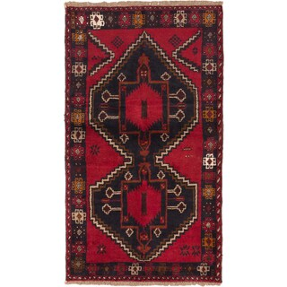 eCarpetGallery Blue/Red Wool Hand-knotted Kazak Rug (3'5 x 6')