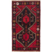 eCarpetGallery Blue/Red Wool Hand-knotted Kazak Rug (3'5 x 6')