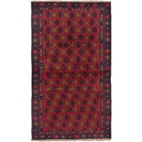 eCarpetGallery Bahor Red Wool Hand-knotted Rug (3'6 x 6'0)