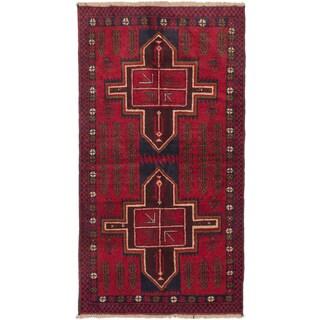 eCarpetGallery Hand-knotted Kazak Red Wool Rug (3'6 x 6'4)