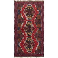 eCarpetGallery Hand-knotted Kazak Red Wool Rug (3'6 x 6'1)