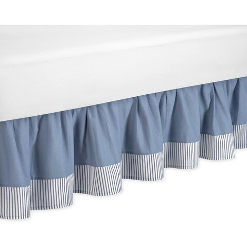 Sweet Jojo Designs Come Sail Away Queen-size Bedskirt