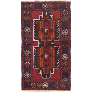 eCarpetGallery Hand-knotted Kazak Blue/ Red Wool Area Rug (3'7 x 6'3)