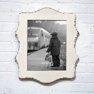 Rustic White Wood 11-inch x 14-inch Distressed Frame