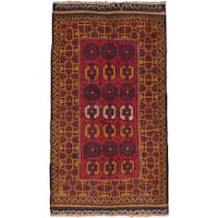 eCarpetGallery Hand-knotted Baluch Brown/Red Wool Rug (3'6 x 6'1)