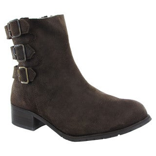 BooRoo Womens Jules Wool Lined Suede Ankle Boots