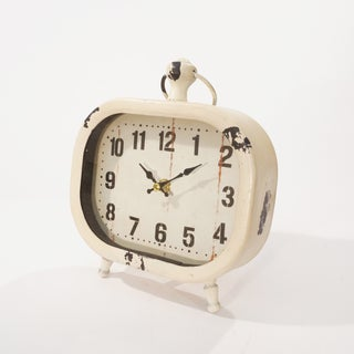 Metal 9-inch Framed Table Clock