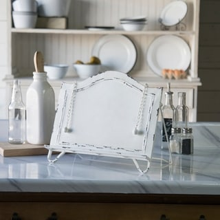 White Metal Cook Book Holder