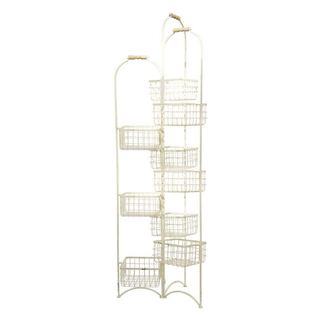 White Metal 9-bin Rack