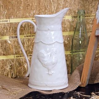 White Ceramic Water Pitcher