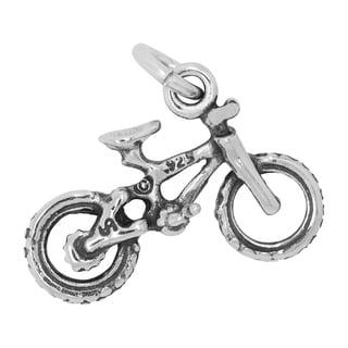 BSE Sterling Silver Polished Bike Charm