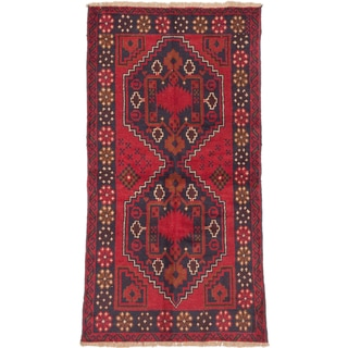 eCarpetGallery Kazak Red Wool Hand-knotted Rug (3'5 x 6'3)