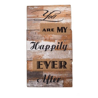 'Happily Ever After' Wood Sign
