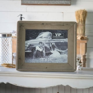 Tan Barnwood/Glass Picture Frame