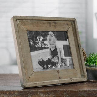 Barnwood Tan Metal and Glass Picture Frame