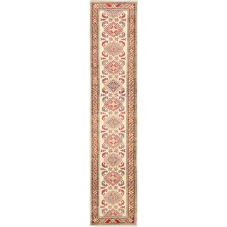 eCarpetGallery Finest Gazni Blue Wool Hand-knotted Rug (2'6 x 12'2)
