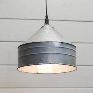Silver Metal Shade Light Fixture
