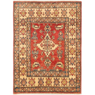 eCarpetGallery Finest Gazni Red Hand-knotted Wool Rug (3'5 x 4'8)
