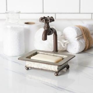 Rustic Grey Metal Soap Dish