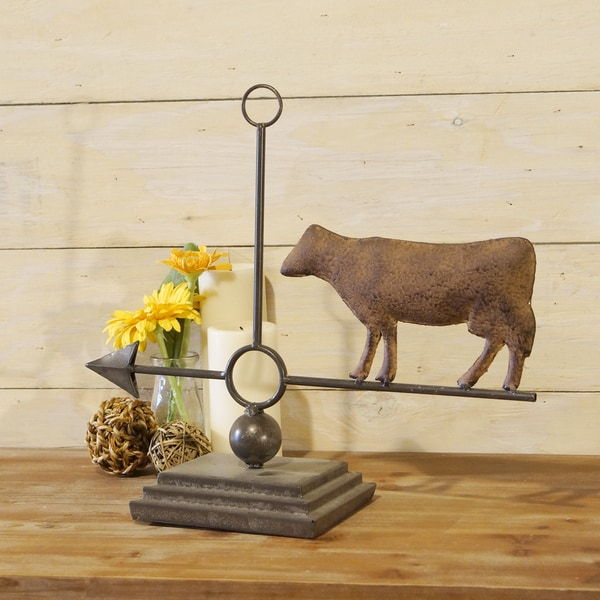 Metal Cow Weather Vane Decor