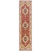 eCarpetGallery Serapi Heritage Red Wool and Cotton Hand-knotted Oriental Runner Rug (2'5 x 9'9)
