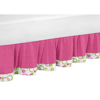 Sweet Jojo Designs Pink and Green Mod Circles Queen-size Bedskirt