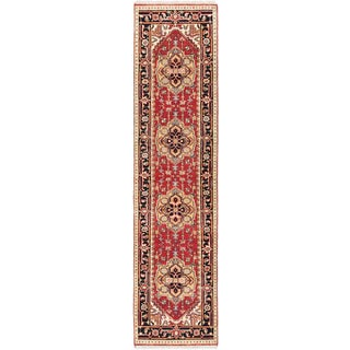 eCarpetGallery Serapi Heritage Brown Wool Hand-knotted Rug (2'5 x 10')